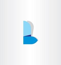 letter l logo l blue icon symbol design vector image