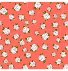 Little Rose seamless background vector image