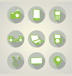 modern devices set collection vector image vector image