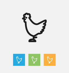 Of animal symbol on rooster vector