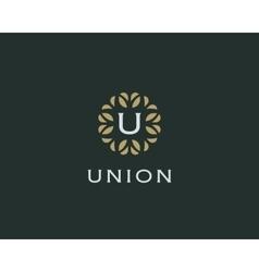Premium monogram letter u initials logo universal vector