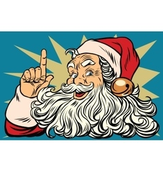 Santa Claus reminds Christmas is coming vector image vector image