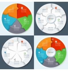 Set of modern minimal infographics circles vector image vector image
