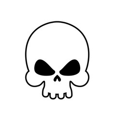 Skull isolated skeleton head on white background vector