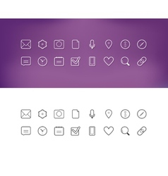 Thin line icons for Web and Mobile vector image vector image