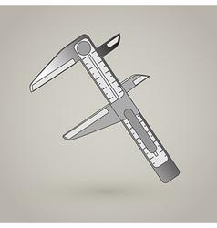 Vernier caliper icon vector