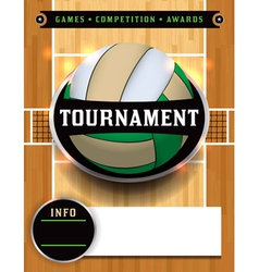 Volleyball tournament flyer vector