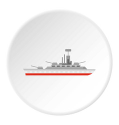 Warship icon circle vector