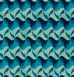 Wave seamless pattern with grunge effect vector