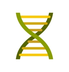 Dna icon in flat style vector