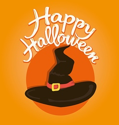 Witch hat halloween vector