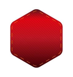 Empty hexagon patch sticker vector