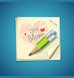 Happy Mothers Day paper note vector image