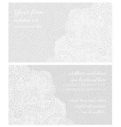 Paisley lace business card vector