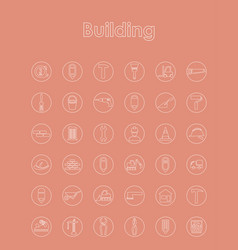 Set of building simple icons vector