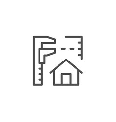 House project line icon vector