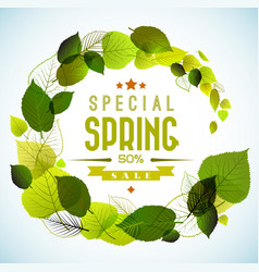 Spring sale background vector