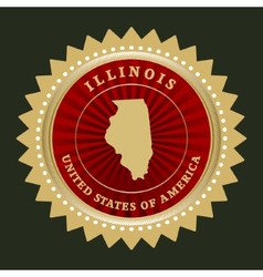 Star label illinois vector