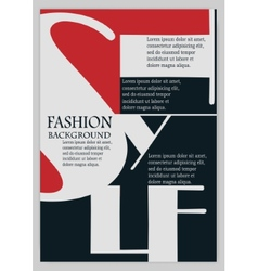 Fashion background typographics vector