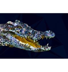 Low poly gemotric of crocodile head vector image