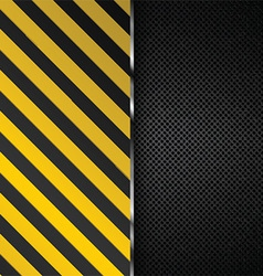 Metallic background with yellow and black stripes vector