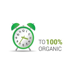 Clock organic green vector