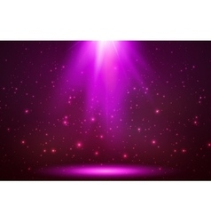 Pink magic top light in darkness vector