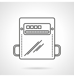 Flat line counter icon vector