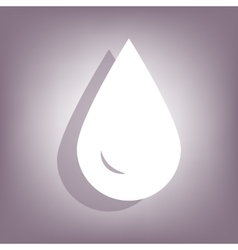 Drop of water icon with shadow vector