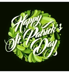 Patrick day lettering greeting card vector