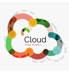 Flat design cloud icon background vector