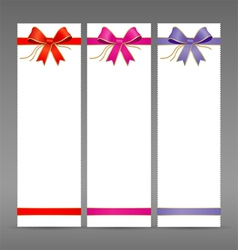 Collections colorful ribbon vector image