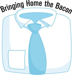Bringing home the bacon vector