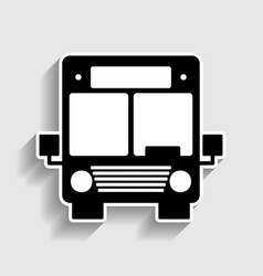 Bus sign sticker style icon vector