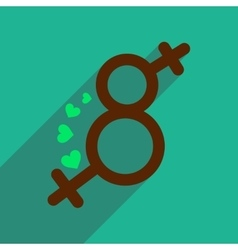 Flat icon with long shadow eight female sign vector