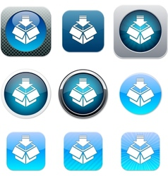 Package blue app icons vector