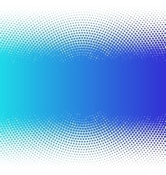 Abstract colorful blue halftone dots horizontal vector image