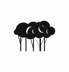 Lot of trees icon simple style vector