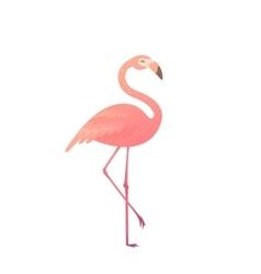A pink flamingo vector