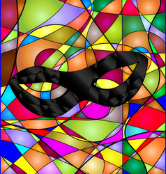 abstract colored background with mask vector image vector image