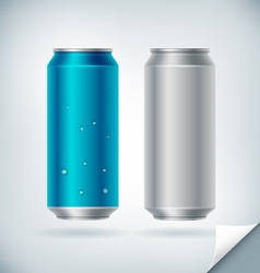 Aluminum soda can vector