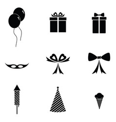 Celebration party icons set vector