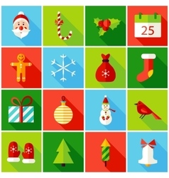 Christmas colorful icons vector