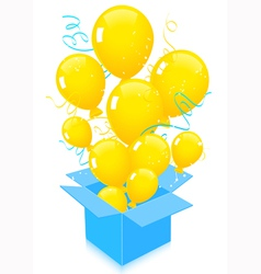 Flying out balloons vector image