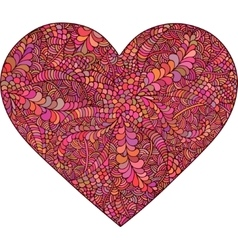 Heart made of doodle elements vector image vector image