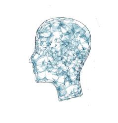 Human head triangles vector