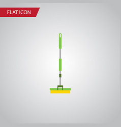 isolated broom flat icon equipment element vector image vector image