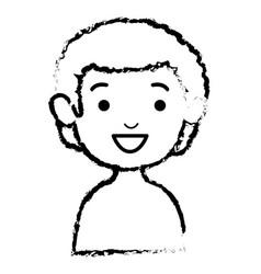 Little boy shirtless avatar character vector