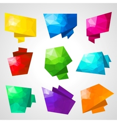 Multicolored speech bubbles with abstract vector image vector image