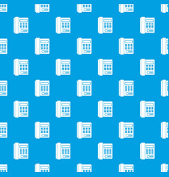 Office business keypad phone pattern seamless blue vector